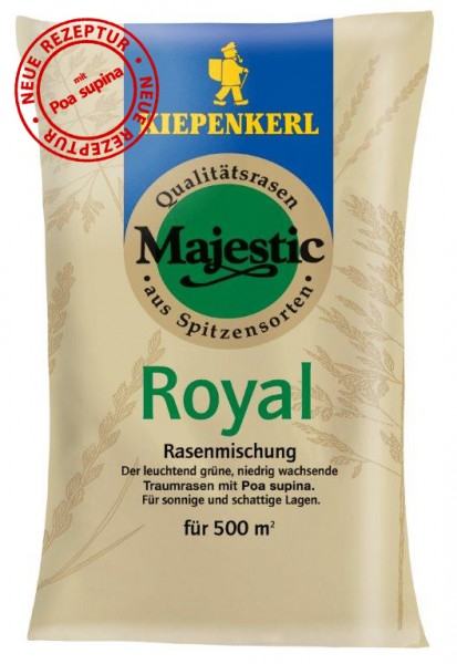 Majestic Royal Rasen mit Poa supina 10 kg Rasensamen