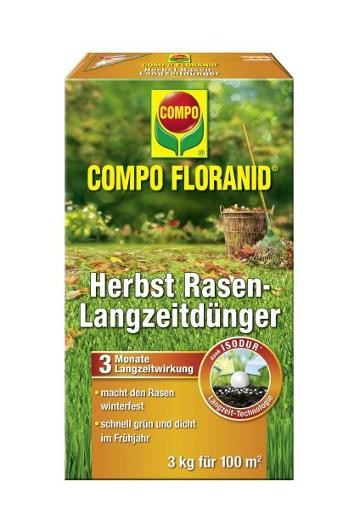 COMPO Floranid Herbst Rasen-Langzeitdünger 3 kg