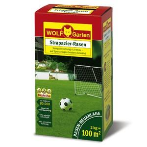 Wolf LJ 100 Strapazier-Rasen 2kg Rasenmischung für 100qm