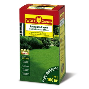 Wolf LP 100 Premium-Rasensamen Schatten und Sonne 2kg für 100qm