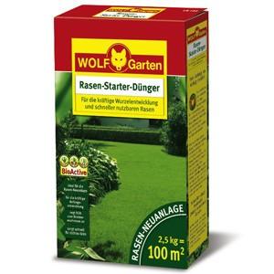 WOLF LH 100 Rasen-Starter-Dünger 2,5kg für 100qm