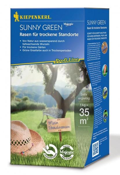 Packshot der Kiepenkerl Profiline Sunny Green Rasenmischung für trockene Standorte 1kg