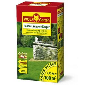 Wolf LN 100 Rasen-Langzeitdünger 2,25kg für 100qm Garten