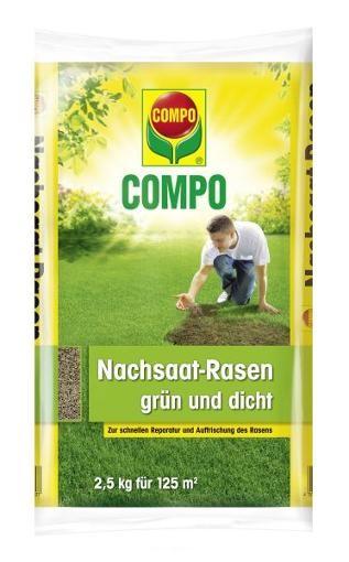 COMPO Nachsaat-Rasen grün & dicht 2,5 kg
