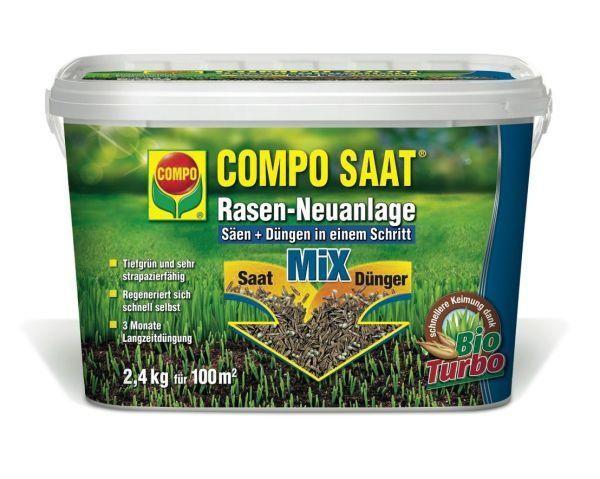 COMPO RasenNeuanlageMix Samen&Dünger 2,4 kg