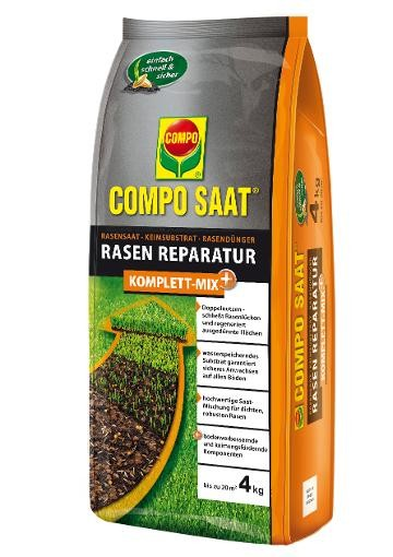 COMPO SAAT Rasen-Reparatur Komplett Mix+ 4 kg