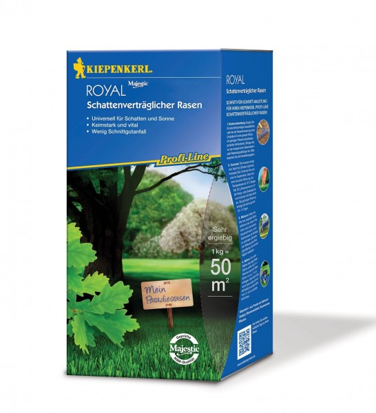 Packshot der Kiepenkerl Profiline Royal Schattenrasenmischung 1kg