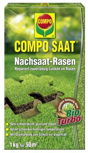 COMPO SAAT Nachsaat-Rasen 1 kg Rasensamen