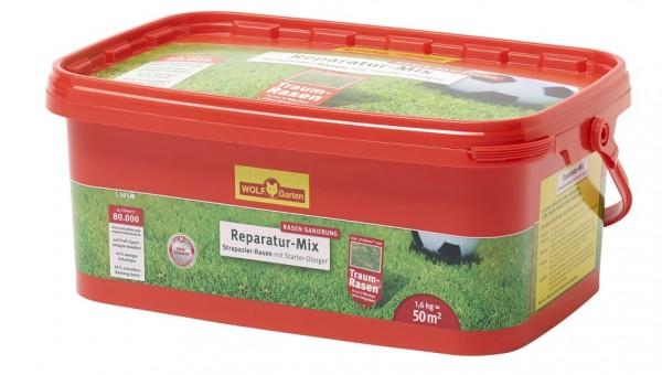Wolf-Garten L 50 LM Strapazier-Rasen plus Aufbau-Dünger 1,6kg für 50qm