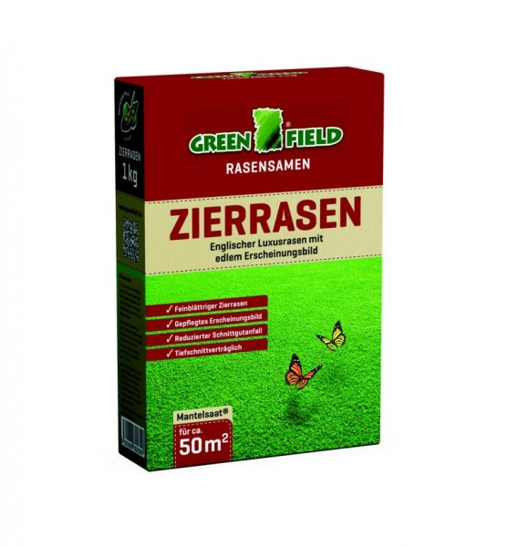 Greenfield Zierrasen Rasensaat 1 Kg