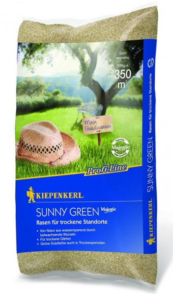 Kiepenkerl Profi Line Sunny Green Rasen für trockenen Boden 10 Kg