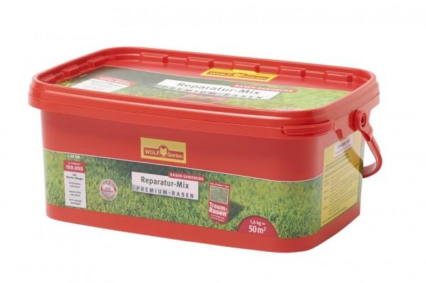 Wolf-Garten L 50 SM Premium-Rasensaat plus Aufbau-Dünger 1,6 kg für 50qm