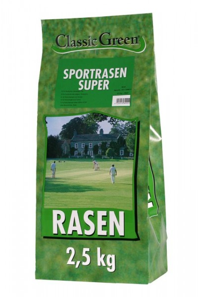 Classic Green Sportrasen Super 2,5kg Rasensamen