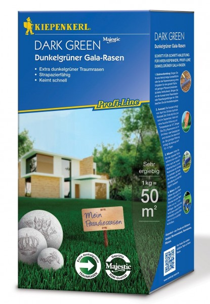 PAckshot der Kiepenkerl Profiline Dark Green Dunkelgrüner Zierrasenmischung 1kg