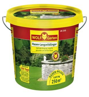 Wolf LN 250 Rasen-Langzeitdünger 5,625kg für 250qm Garten