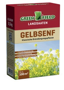 Greenfield Gelbsenf-Saat 500 Gramm