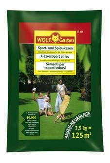 Wolf LG 125 Sport -und Spielrasen 2,5 kg Rasensamen für 125qm