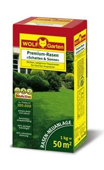 Wolf LP 50 Premium-Rasensamen Schatten und Sonne 1kg für 50qm